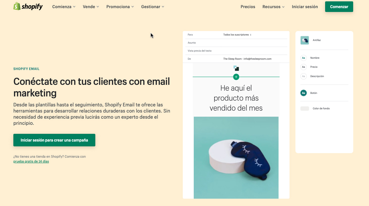 Herramientas de marketing con Shopify