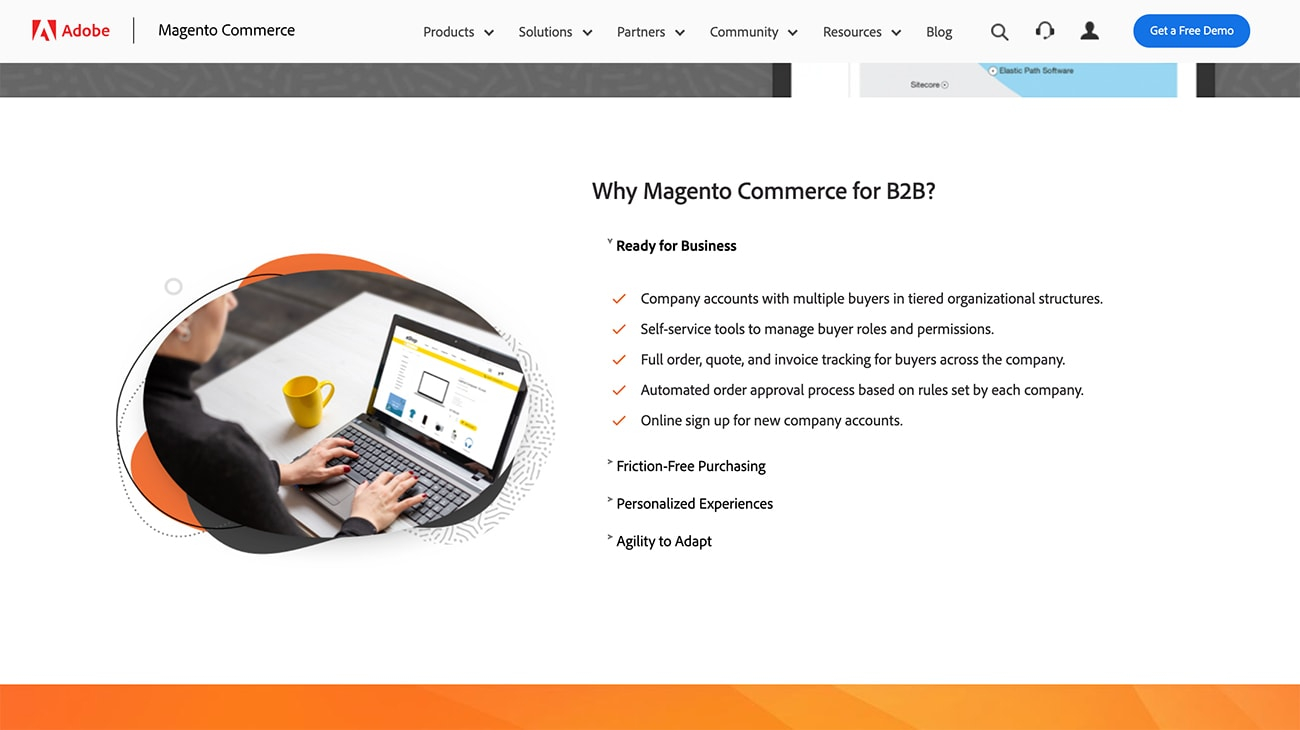 Magento Commerce venta B2B